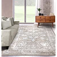 A2Z Rug|Santorini 6076 Beige Overdyed Style Floral Pattern With Border|Kitchen Hallway Traditional Area Runner Rug|Soft…