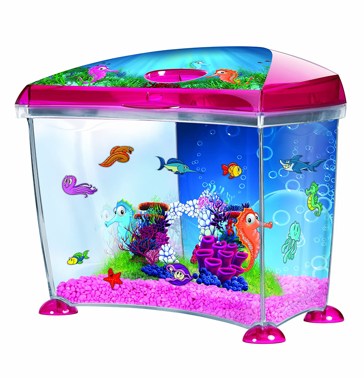Aquarium fish tank starter kit - Marina Seahorse Fantasy Plastic Aquarium Kit 14 Litre Amazon Co Uk Pet Supplies
