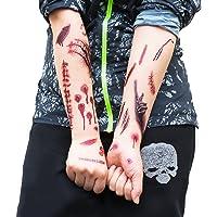 Oblique-Unique Tattoos Narben Wunden Horror Ritzen Helloween - 40 realistisch aussehende Motive