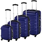TecTake Set de 4 valises de Voyage de ABS avec Serrure à Combinaison intégrée | poignée télescopique | roulettes 360° - diver