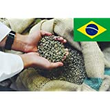 Brazil Santos Green Coffee Beans - Unroasted Raw - Perfect for Home Roasting (1kg)