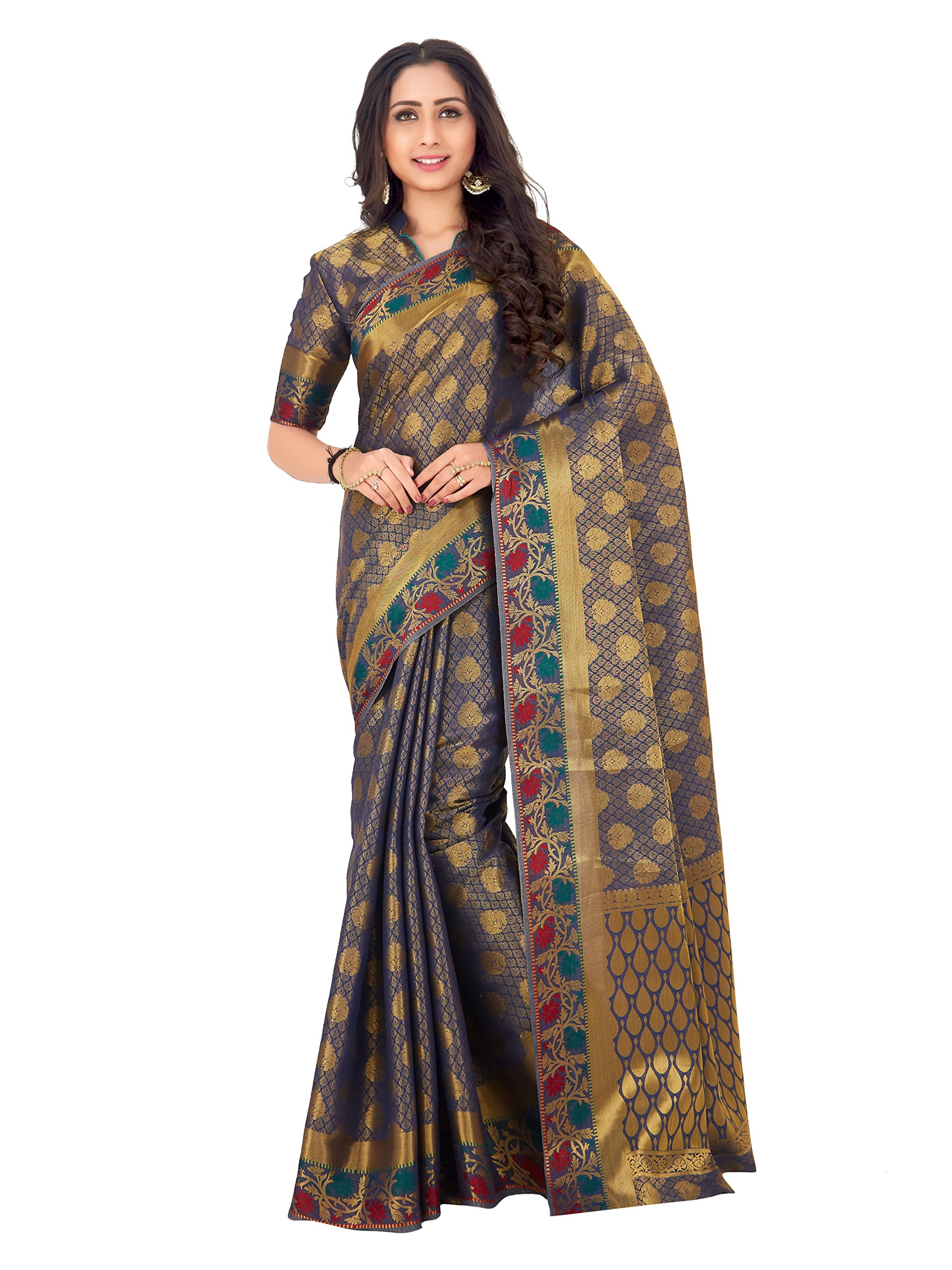 4e8099bfbf99f5 Mimosa By Kupinda Women's Art Silk saree Kanjivaram Style 4169 208 SD -  Ratzz Collection | Best Price Online Shop