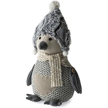 Türstopper PINGUIN Winter Weihnachten Deko Figur lustig Fensterbrett Tür Stopper