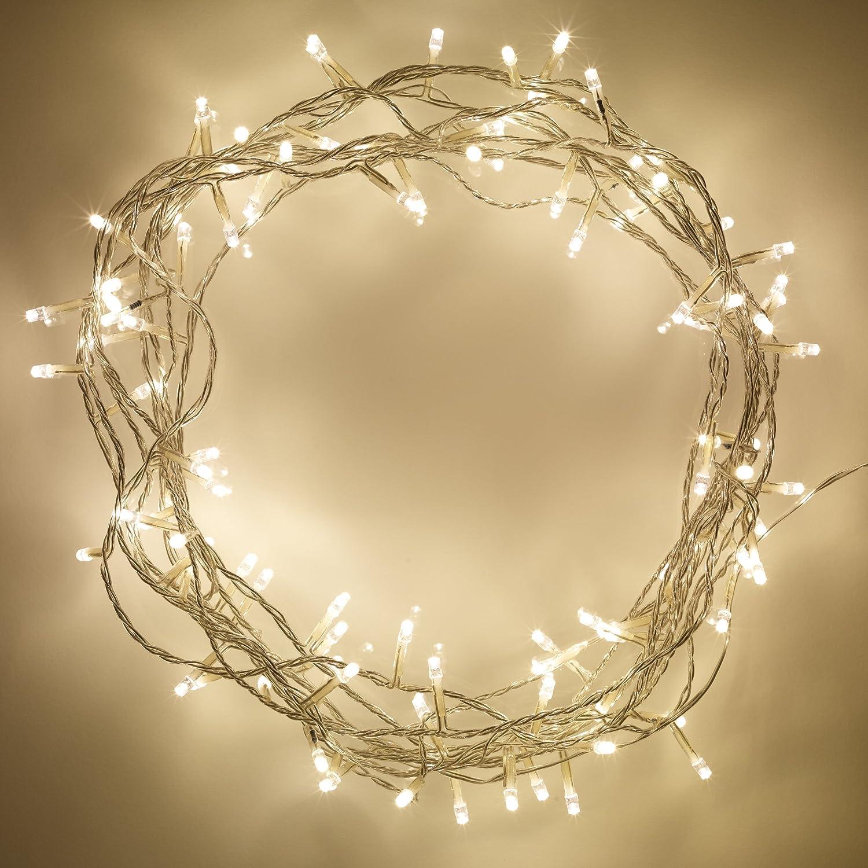 200er LED Lichterkette warmweiß Lights4fun: Amazon.de: Küche ...
