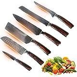 Jikko® Nouvelle Gamme de Couteaux de Chef Japonais en Acier Carbone Renforcé VG-10 - Fabrication Japonaise - Couteaux de Cuis