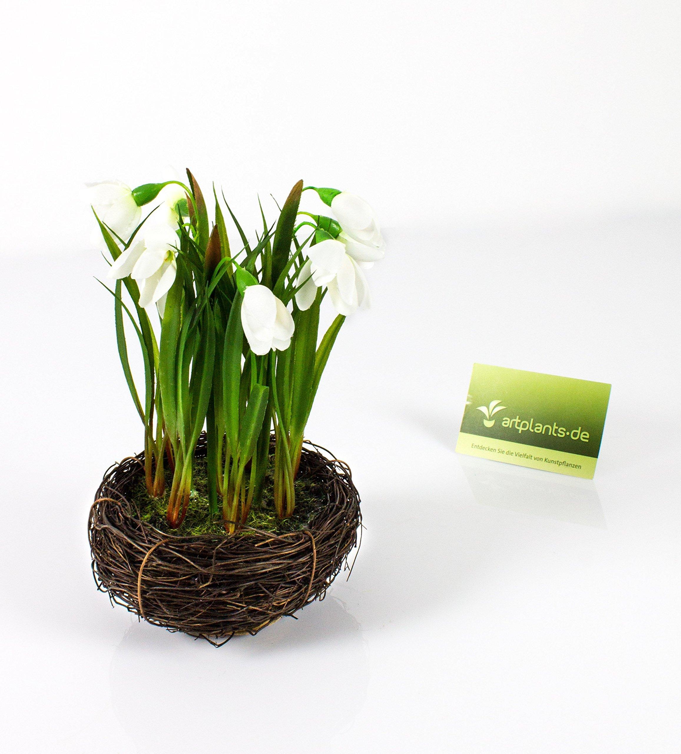 Artplantsde Campanilla Artificial En Nido Grande Blanco 20cm ø 14cm Flor Campanilla Artificial Planta Decorativa