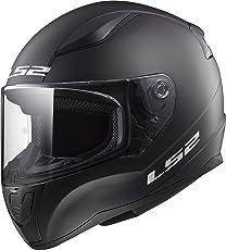 LS2 Unisex Adult Rapid Solid Motorcycle Helmet (Matte Black, XL)