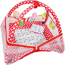 Deals Outlet Baby Kick and Play Gym with Mosquito Net and Baby Bedding Set (Red)