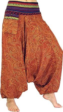 Bianco Sintetico Pantaloni Afghani Pantaloni Harem Pantaloni Pantaloni Harem Pantaloni Harem Pantaloni Harem Pantaloni Harem Pantaloni Aladdin GURU-SHOP Dimensione Indumenti:38