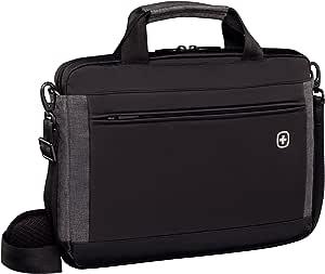 Wenger 601081 Incline 16 Zoll Laptop Slimcase Gepolstertes Laptopfach Mit Ipad Tablet Ereader Tasche Im Schwarz Grau 6 Liter Koffer Rucksäcke Taschen