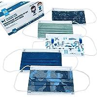 50 Mund und Nasenschutz Kinder Maske | Masken Mundschutz - Normen 14683:2019 CE Zertifizierte Gesichtsmaske für den…