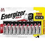 Energizer -Pack de 16Pilas alcalinas MAX AA LR6, 50% más de Rendimiento