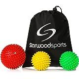 Spiky Massage- und Lacrosse-Bälle für myofasziale Entspannung und Triggerpunkt-Therapie, einzeln oder im Set