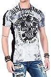Cipo&Baxx T-Shirt Herren Slim Fit mit Rundhalsschnitt, Nieten und Printdruck