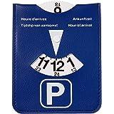 Parkeerschijf Kangaro in blauwe kunstlederen behouder, K-0035D220, 13x10.5x0.2