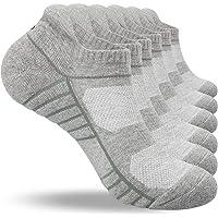 coskefy Running Socks Cushioned Trainer Socks Sports Socks Anti Blister Cotton Ankle Socks Low Cut Athletic Socks for…