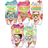 7th Heaven Moisturising Face Mask Pack with Dead Sea Clay, Pink Guava, Strawberry Cream, Pink Rose Clay and Coconut Clay…