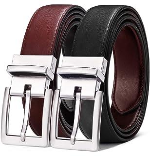 BULLIANT Cintura Uomo Cintura Reversibile di Pelle 31mm Confezione Regalo,Dimensioni Regolabili