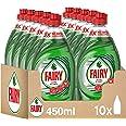 Fairy Ultra Poter - Lavastoviglie a mano, 4,5 l (10 x 450 ml), verde, ottimo potere antigrasso