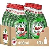 Fairy Ultra Poder Lavavajillas a Mano, 4.5 L (10 x 450 ml), Óptimo Poder Antigrasa