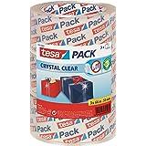 tesapack Crystal Clear - Kristalheldere verpakkingstape - Sterke PP-kwaliteit - Transparante pakketplakband - 3 rollen - 66 m