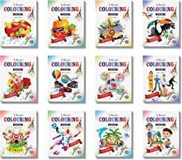 Colouring Books Collections by InIkao (12 Books)