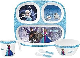 Servewell Frozen Melamine Kids Set, 5-Pieces, Blue
