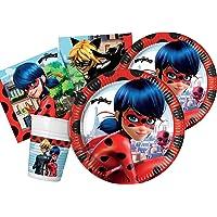 Ciao- Kit Party tavola, Colore Rosso, Nero, S (8 persone), Y5042