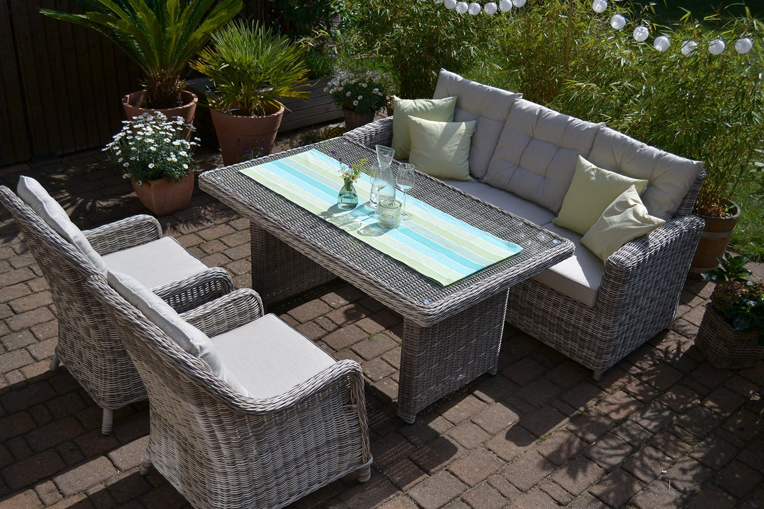 Bomey Rattan Lounge Set I Gartenmobel Set Manhattan 4 Teilig