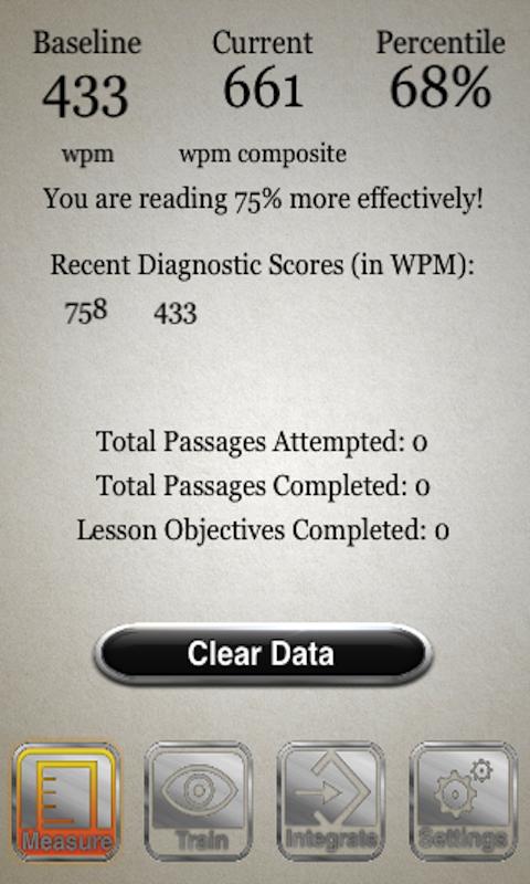 Speed Reading Trainer Full Capture d'écran