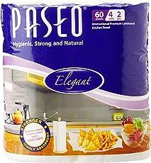 Paseo Tissues Plain Kitchen Towels - 4 Rolls