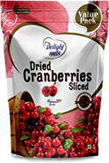 Delight Nuts Dried Cranberries Sliced- 750gm (Value Pack)