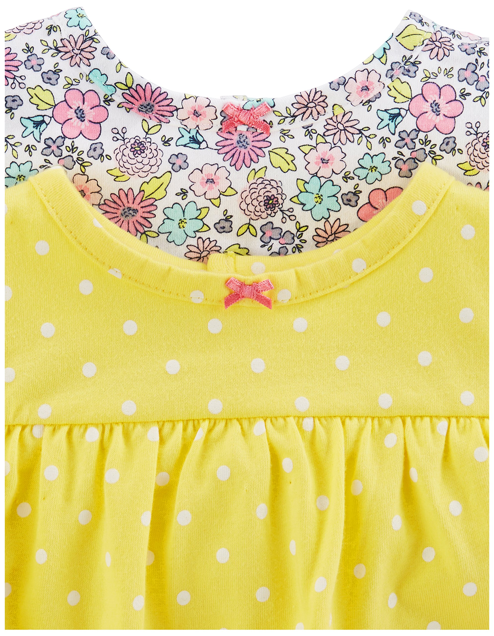 Simple Joys by Carter's Baby Girls paquete de 3 pelele, traje de sol y vestido 3