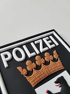 Atg 3 D Rubber Patch Polizei Berlin Farbig Auto