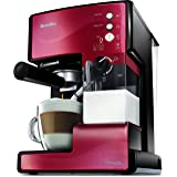 Breville VCF046X PrimaLATTE 3-i-1 kaffemaskin, 1,5 liter, metallisk/röd