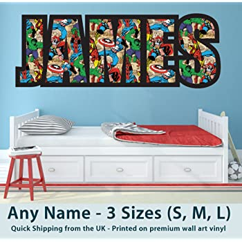 Childrens Name Wall Stickers for Boys/Girls/Kids Bedroom - Any Name ...