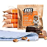 Feel Mighty Low Carb Brownies- Pack of 5 High Protein, Low Calorie, Sugar-Free, Keto Friendly, Chocolate Peanut Butter…