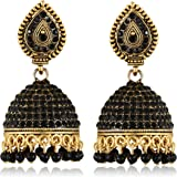 Vighnaharta Oxidised SilverGerman Sizzling Bejeweled bollywood Earring for Women and Girls VFJ1295ERG