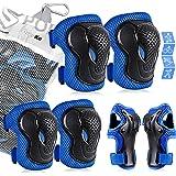 AresKo beschermingsset voor kinderen/jongeren, kniebeschermers en elleboogbeschermers voor kinderen Polsbeschermer 6-in-1 bes