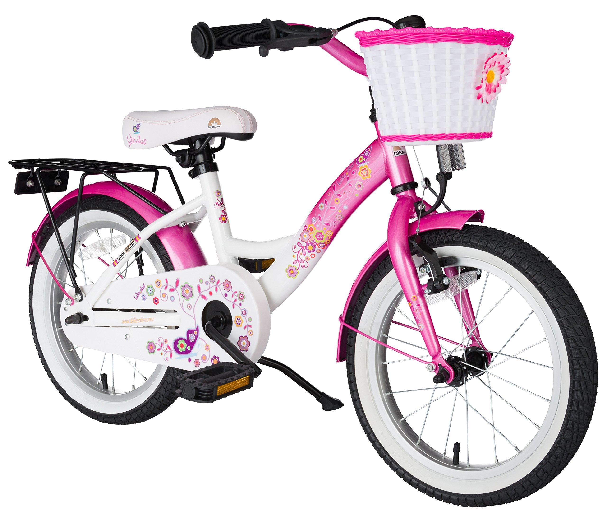 BIKESTAR® Premium Bicicletta per Bambini giù 4 anno ? Edizioni 16ª Classico ? Fenicottero Rosa & Dia