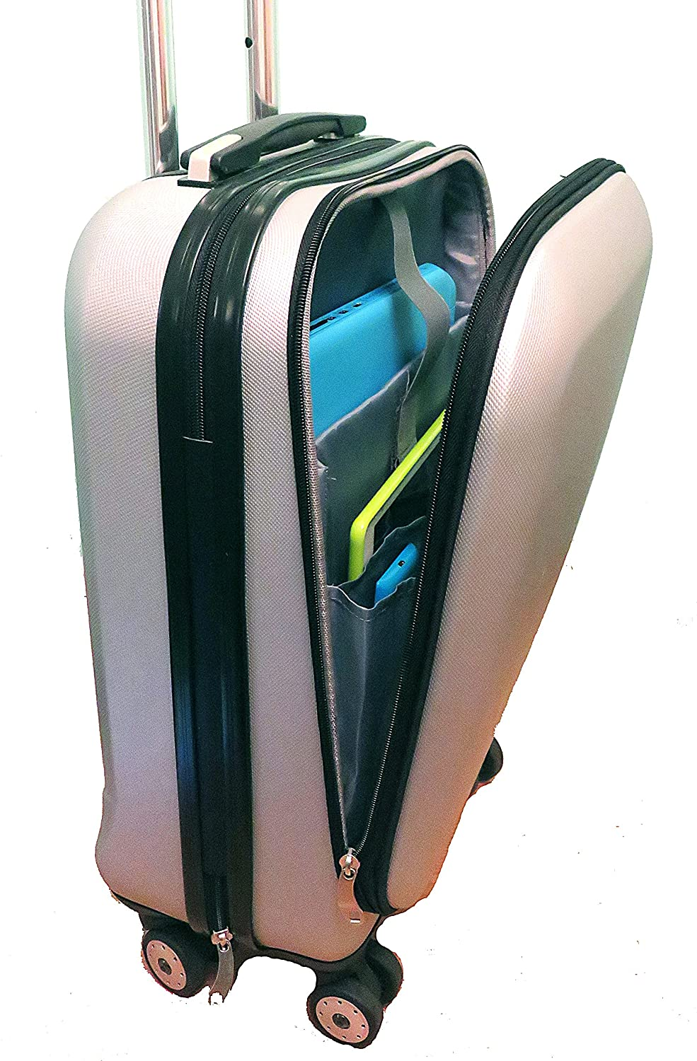 ABS Hard Shell Laptop Cabin Case 55x40x20cm Wheels Ryanair Onboard ...
