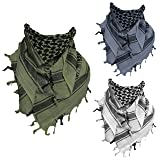 100% Cotton Shemagh Scarf Arab Face Mask Dust Cover Keffiyeh Head Neck Wrap
