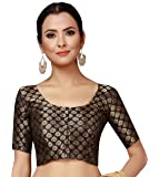 STUDIO Shringaar Women's Brocade Stitched Saree Blouse