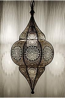 Grand Lustre Orientlampe Oriental Argent Du Maroc Lanterne Lampe