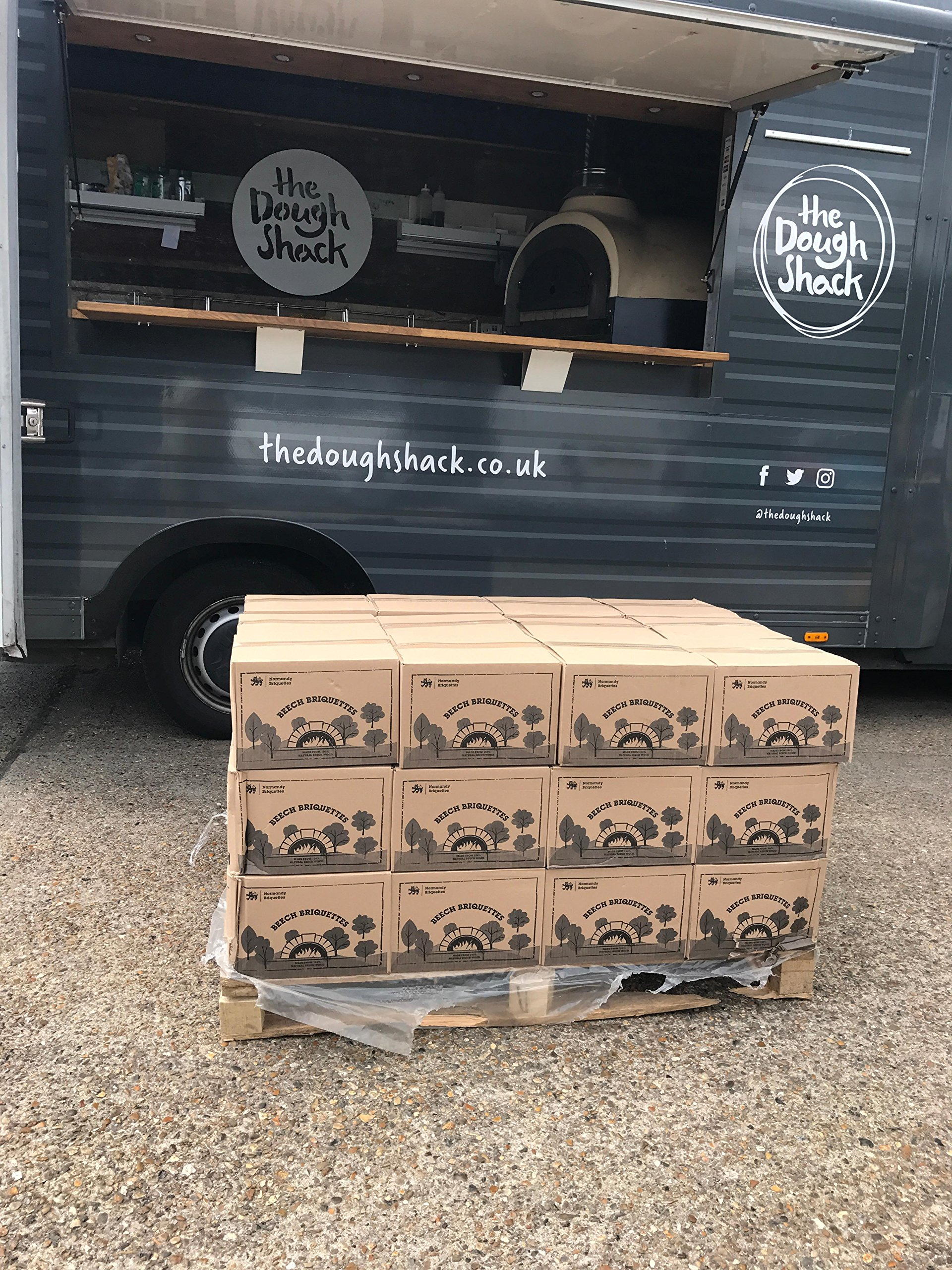 Normandy Beech Briquettes –12KG - Wood Burning Stove & Pizza Oven Firewood, Burns for up to 12 Hours - Very Hot & Long Burning Compressed Logs. 100% Natural Beech - Eco Friendly Fuel 6