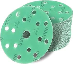 150 Mm Exzenter Schleifscheiben Sortiment Set 25 Scheiben P800 P600 P400 P320 P240 15 Loch Klett Schleifpapier Baumarkt