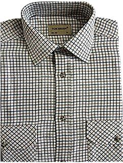 Mens Check Shirts Long Sleeve Lumberjack Flannel Work Casual Button Shirt S 5XL
