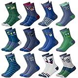 MC.TAM® Calcetines de Colores Medias Cortes Para Niños Niñas 6 y 12 Pares 90% Algodón Oeko Tex® Standard 100