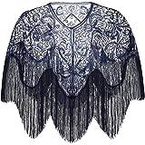 ArtiDeco Chal retro de los años 20, estola para vestido de noche, boda, fiesta, novia, bufanda, disfraz, accesorios