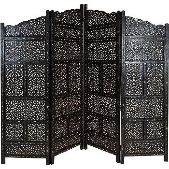 Orientalischer Paravent Raumteiler Aus Holz Saraswati 200 X 180cm